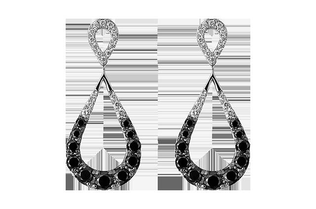 Sort & hvid øreringe