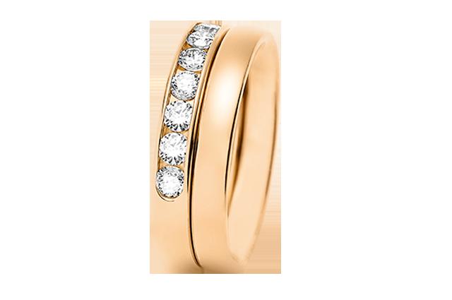 Half eternity ring & wedding band