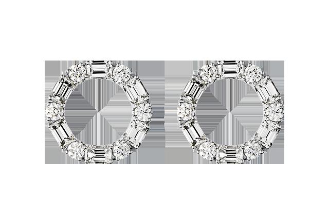 Ørering med diamanter – BØ1477