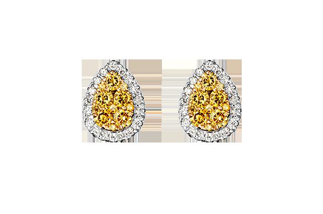 Ørering med diamanter – BØ1502G