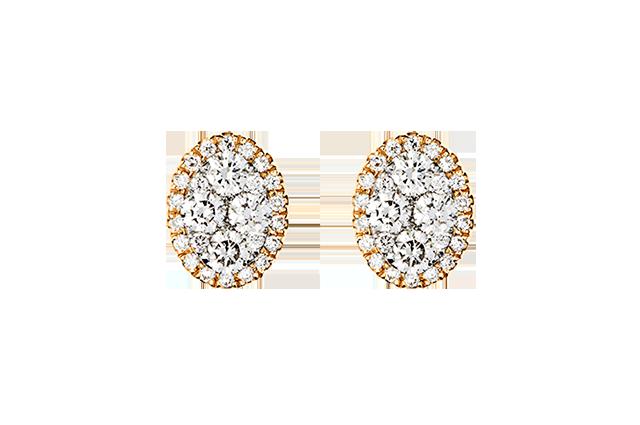 Ørering med diamanter – BØ1503