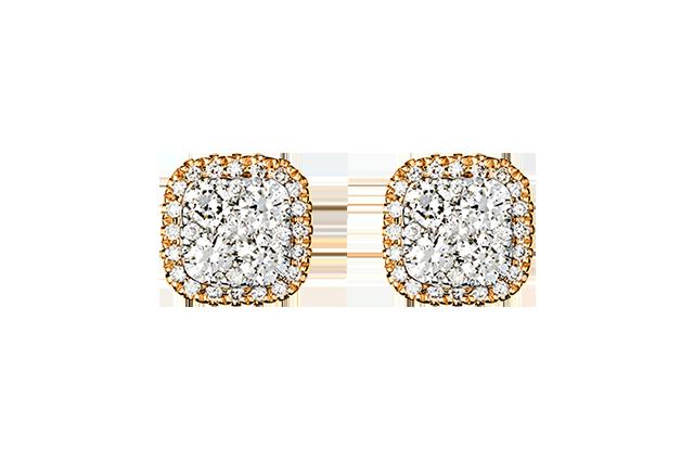 Ørering med diamanter – BØ1505